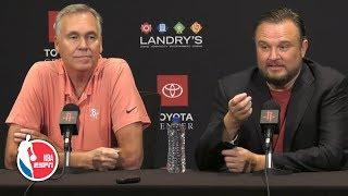 Mike D'Antoni and Daryl Morey full press conference | Houston Rockets | 2019 NBA Media Day