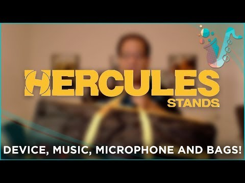 HAVE A GANDER - Hercules Music Stands, Microphone Stands, Device Stands, and Bags!