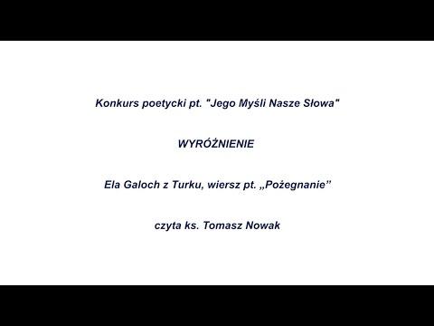 Ela Galoch Z Turku Wiersz Pt Pożegnanie Youtube