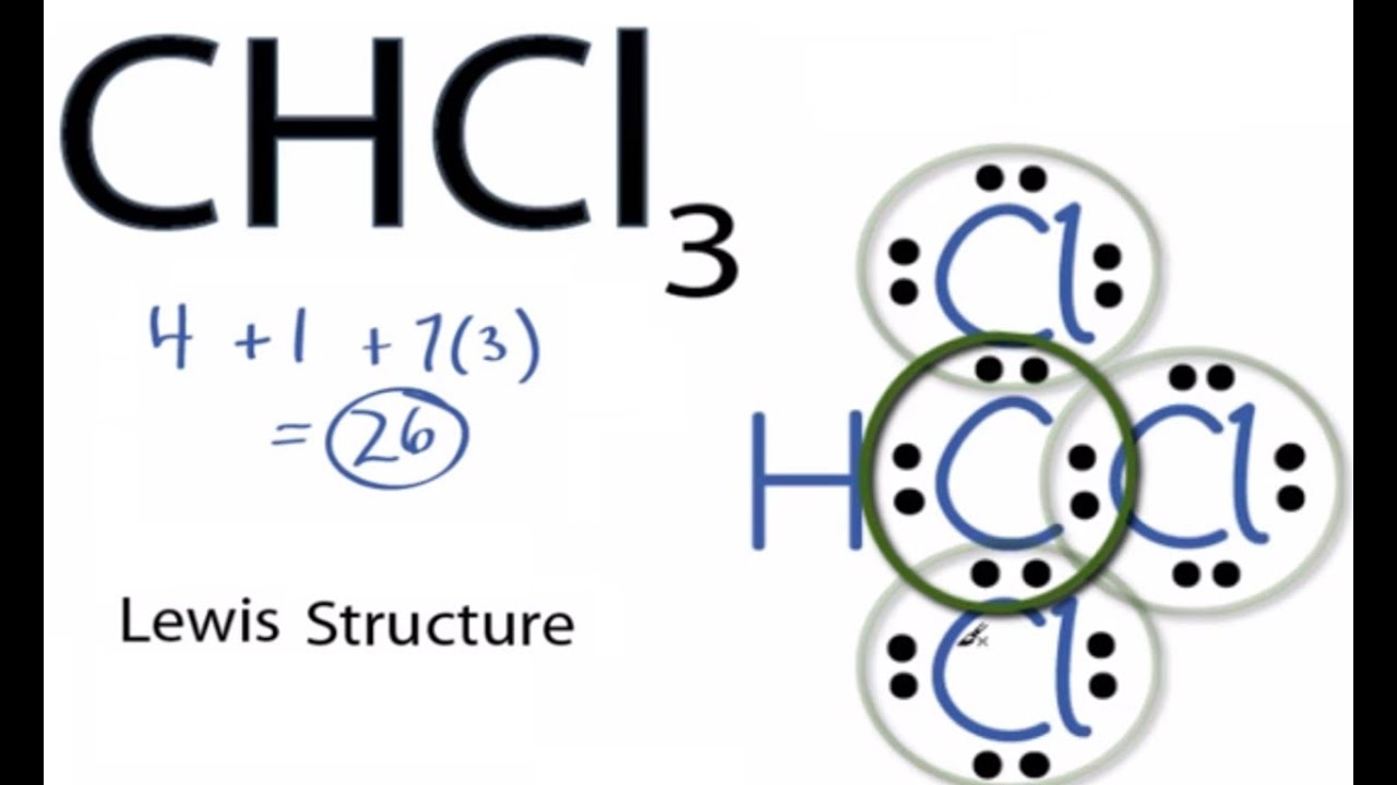 chcl3 lewis structure how to draw the lewis structure for chcl3 [ 1280 x 720 Pixel ]