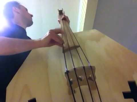 DIY Coffin double bass - sound test