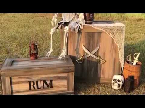 How to turn cardboard boxes into Props for Halloween or Pirate parties