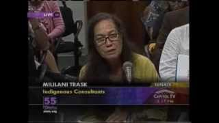 Mililani Trask Suggests Amending SB246 so it