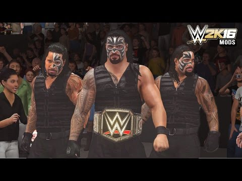 WWE 2K16 Mods - Roman Reigns Forms The Samoan Shield With The Uso