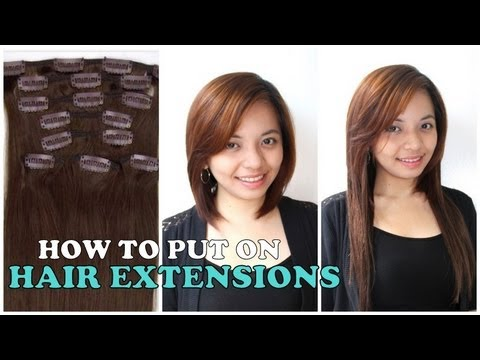 How to put on hair extensions tutorial review youtube how to put on hair extensions tutorial review pmusecretfo Image collections