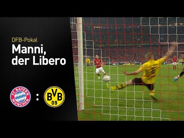 Manni Bender blockt   FC Bayern München - BVB 2:3