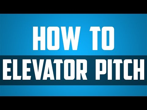 Elevator Pitch - How to sell yourself and your business in 30 seconds