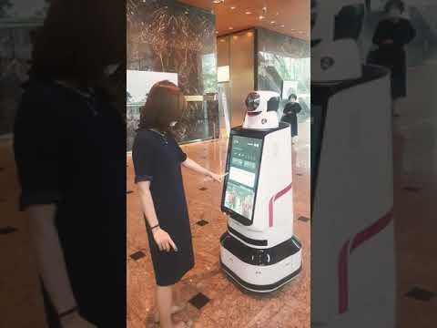 THE FUTURE IS HERE | AI ROBOT SERVICE in GANGNAM SEOUL 2021#ai #airobot #technology #future #netflix