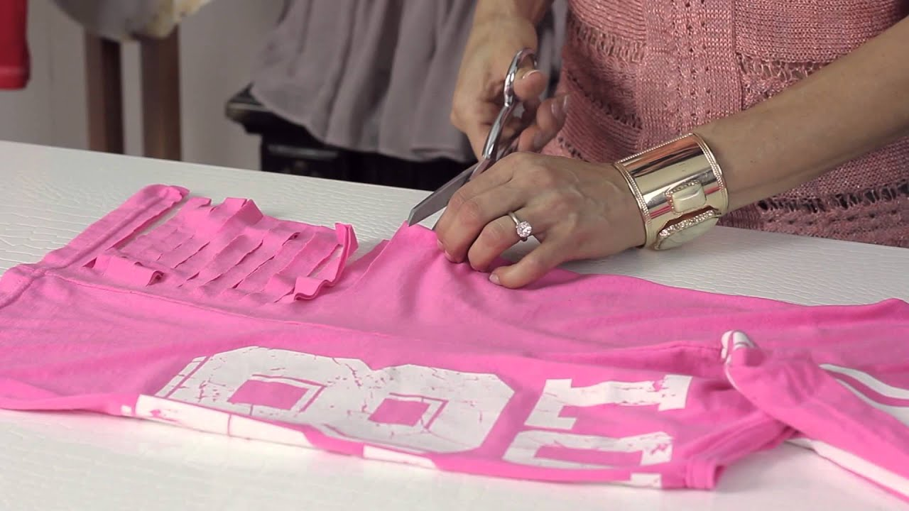 How To Cut T Shirts To Look Torn : DIY Shirt Alterations   YouTube