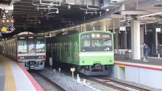 おおさか東線 201系 新大阪駅発車