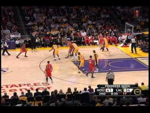 Houston Rockets Brad Miller effective in high post vs. Lakers 10/26/2010