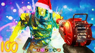 COLD WAR ZOMBIES - NEW ZOMBIES HOLIDAY MAP JINGLE HELLS ROUND 100!!!