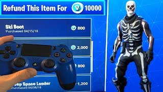 REFUND SYSTEM IS BACK! (Fortnite Battle Royale) How to Refund Skins & Items for vBucks!