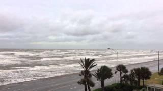 Tropical Storm Bill: 6:46 pm CT, June 16, 2015 Galveston Seawall