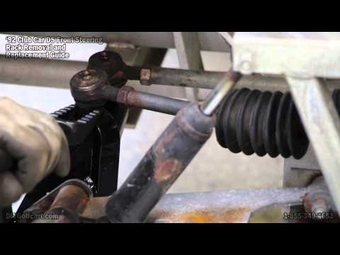club car ds steering gear box rack | how to install on golf cart - youtube