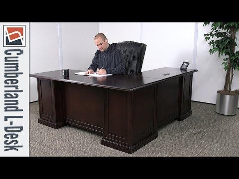 Office Desk | NBF Signature Series Cumberland L-Desk | National Business Furniture