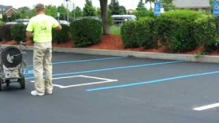 PARKING LOT STRIPING, EATON AND SONS ASPHALT
