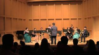 UNCW's Mu Phi Epsilon Winds and Percussion Octet performs for their...