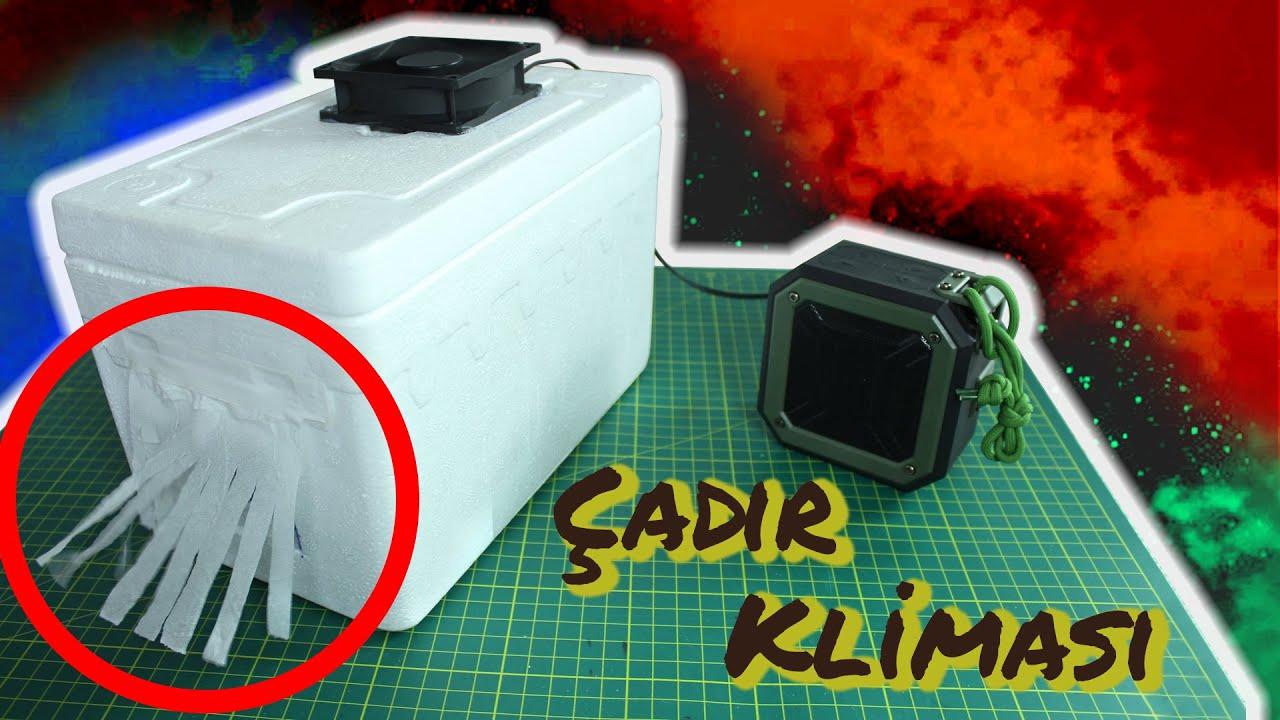 Taşınabilir mobil mini klima nasıl yapılır ? (Çadır Kliması)