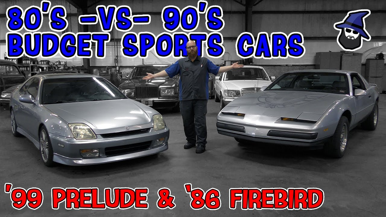 80's~vs~90's Budget Sports Cars! The CAR WIZARD compares these era icons: '86 Firebird & '99 Prelude