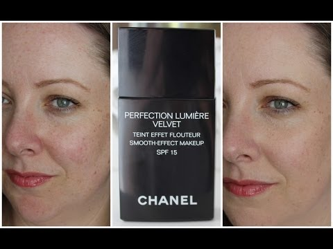 Chanel Perfection Lumiere Velvet foundation - first impressions & demo / Lovely Girlie Bits