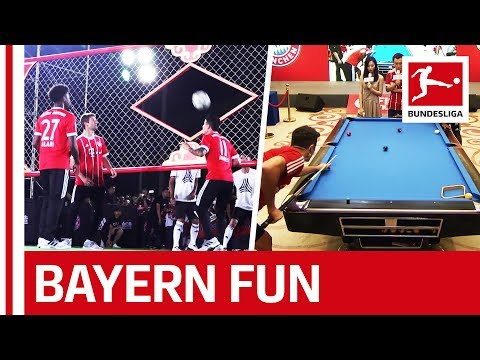 Ribery, James, Lewy & Co. Enjoy Asia   FCB Fun Off the Pitch