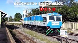 1ª Locomotiva Fabricada no Brasil Novissima PR7 1401 Teste Extremoz RN