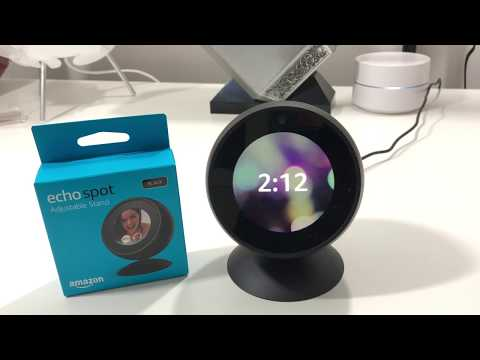 Amazon Echo Spot | Adjustable Stand Unboxing and Tour!
