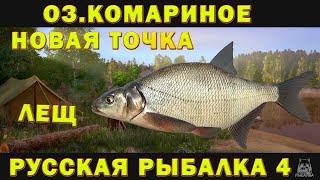 PP4 ОЗЕРО КОМАРИНОЕ ФАРМ НА ЛЕЩА ТРОФЕЙНЫЙ ЛЕЩ РУССКАЯ РЫБАЛКА 4 RUSSIAN FISHING 4 НОВАЯ ТОЧКА
