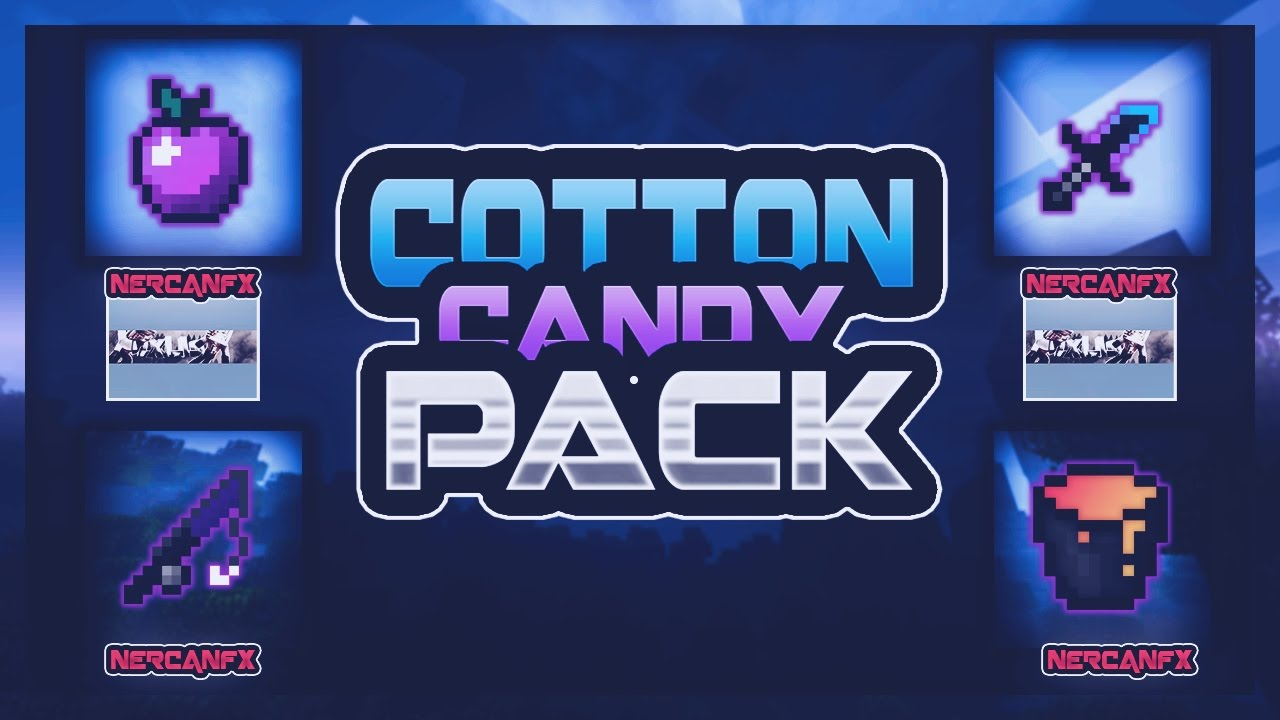 Minecraft PvP Texture Pack - Cotton Candy Pack - [1.7/1.8] [ UHC/Kohi/SG] FPS+