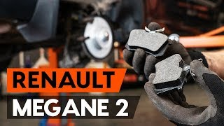 How to replace Brake pad set RENAULT MEGANE II Saloon (LM0/1_) Tutorial