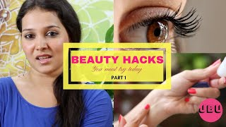 BEAUTY HACKS EVERY GIRL SHOULD KNOW  I MAKEUP, HAIR, NAILS (Part 1)