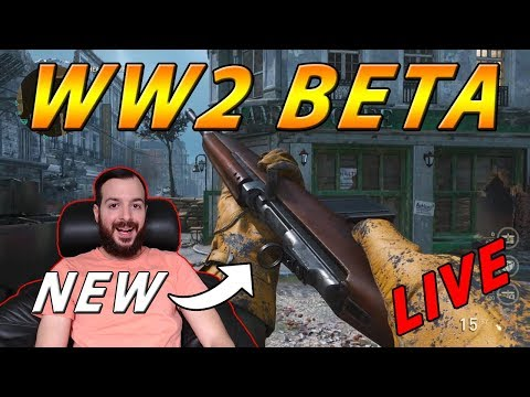 The Beta Is Back Early - New Content - Call of Duty: WW2 Beta Live Stream With Frank Sparapani