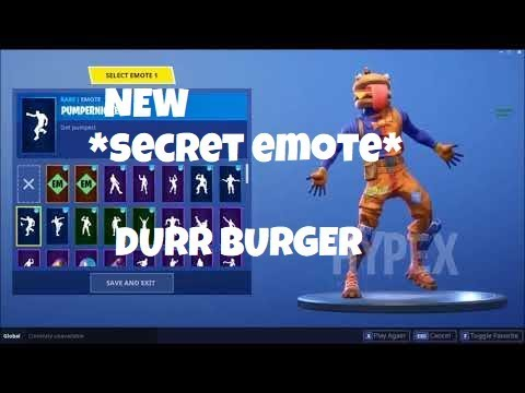 New Durr Burger Skin With Secret Emote Found In Fortnite Youtube