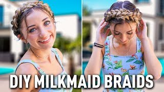 How to Create DIY Milkmaid Braids | by Brooklyn from BrooklynAndBailey