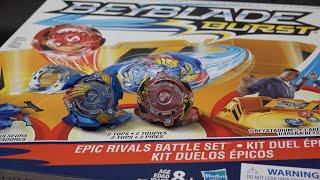 Hasbro BEYBLADE BURST Epic Rivals Battle Set Unboxing & Review! Valtryek & Spryzen