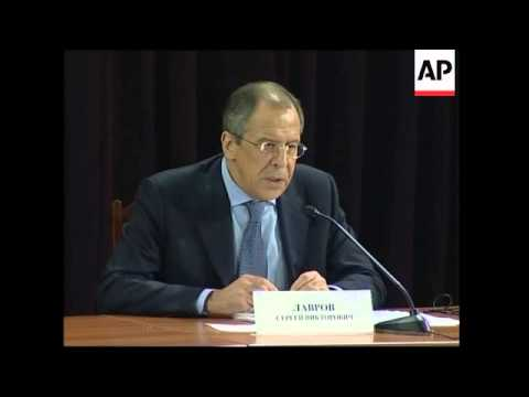 Russian Foreign Minister Sergey Lavrov comments on Kosovo