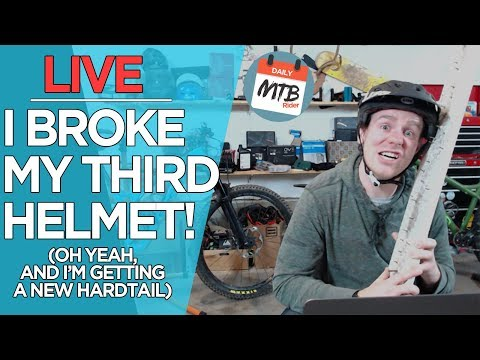 🔴 LIVE - Breaking My Helmet Fund & A New Hardtail Coming Soon!
