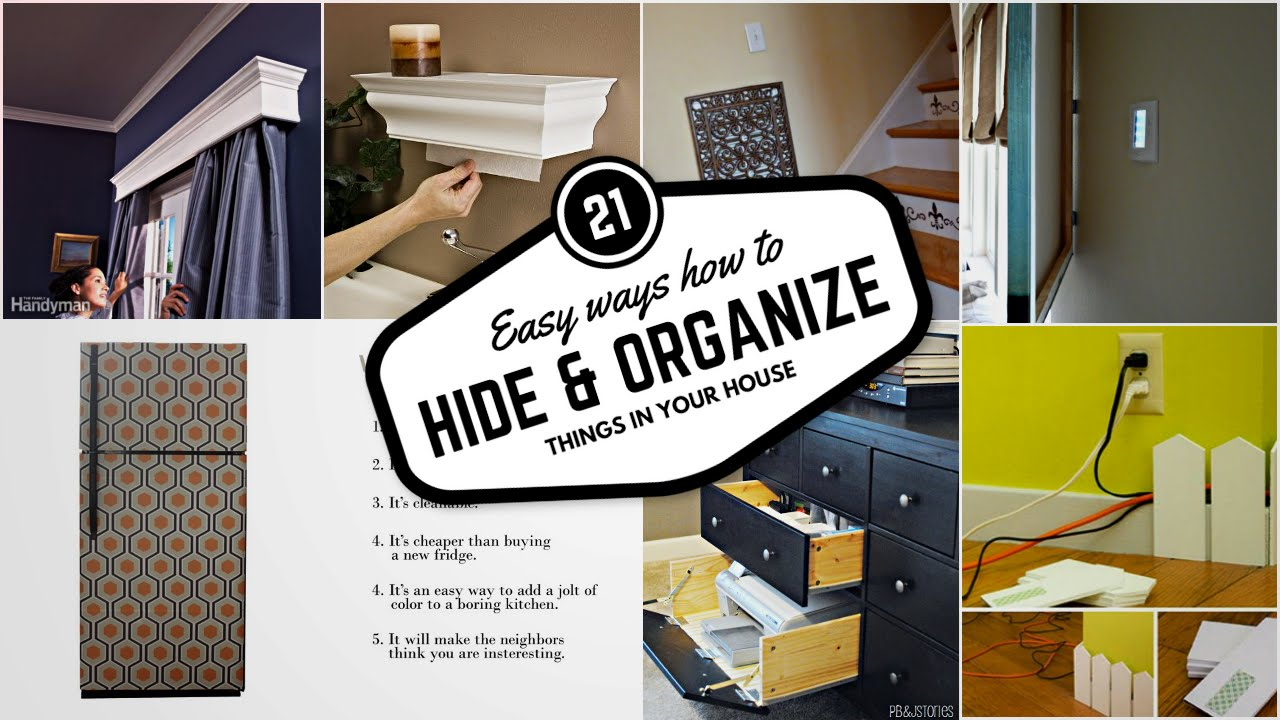 21 Ways to Hide and Organize Things in your House #1 - YouTube