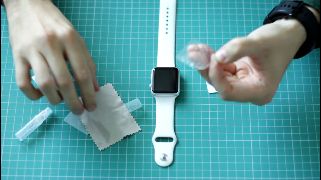 Instalare folie smart protection apple watch
