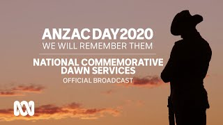 Commemorative dawn services - Anzac Day 2020 | official broadcast