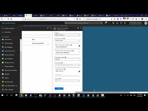 Azure VNET Hub and Spoke reference architecture
