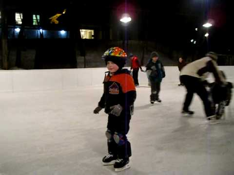 Matthias learns to skate at the Canadian Govenor General's Residence