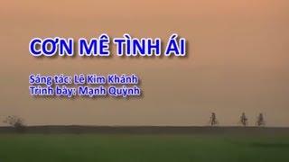 [Karaoke] Cơn Mê Tình Aí | Mạnh Quỳnh Official