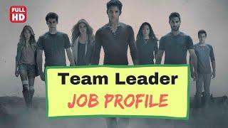 team leader job description    sales team leader job profile in company