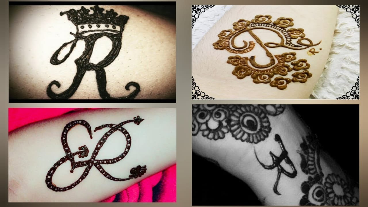 r name mehndi design simple