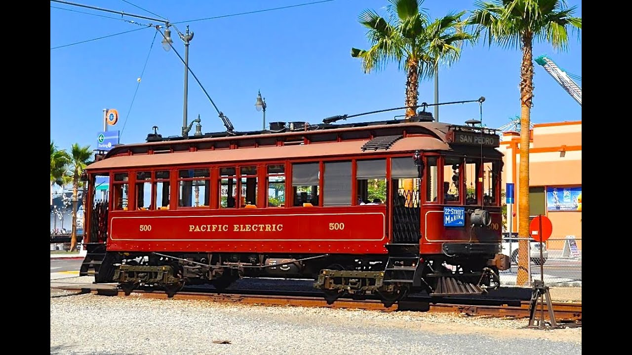 san pedro red car pacific electric trolley youtube