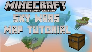 minecraft PS4 how to build skywars map