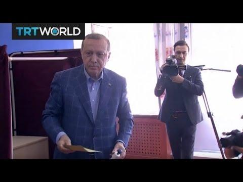 Turkey's Choice: Turkey's President Erdogan and CHP leader Kemal Kilicdaroglu vote