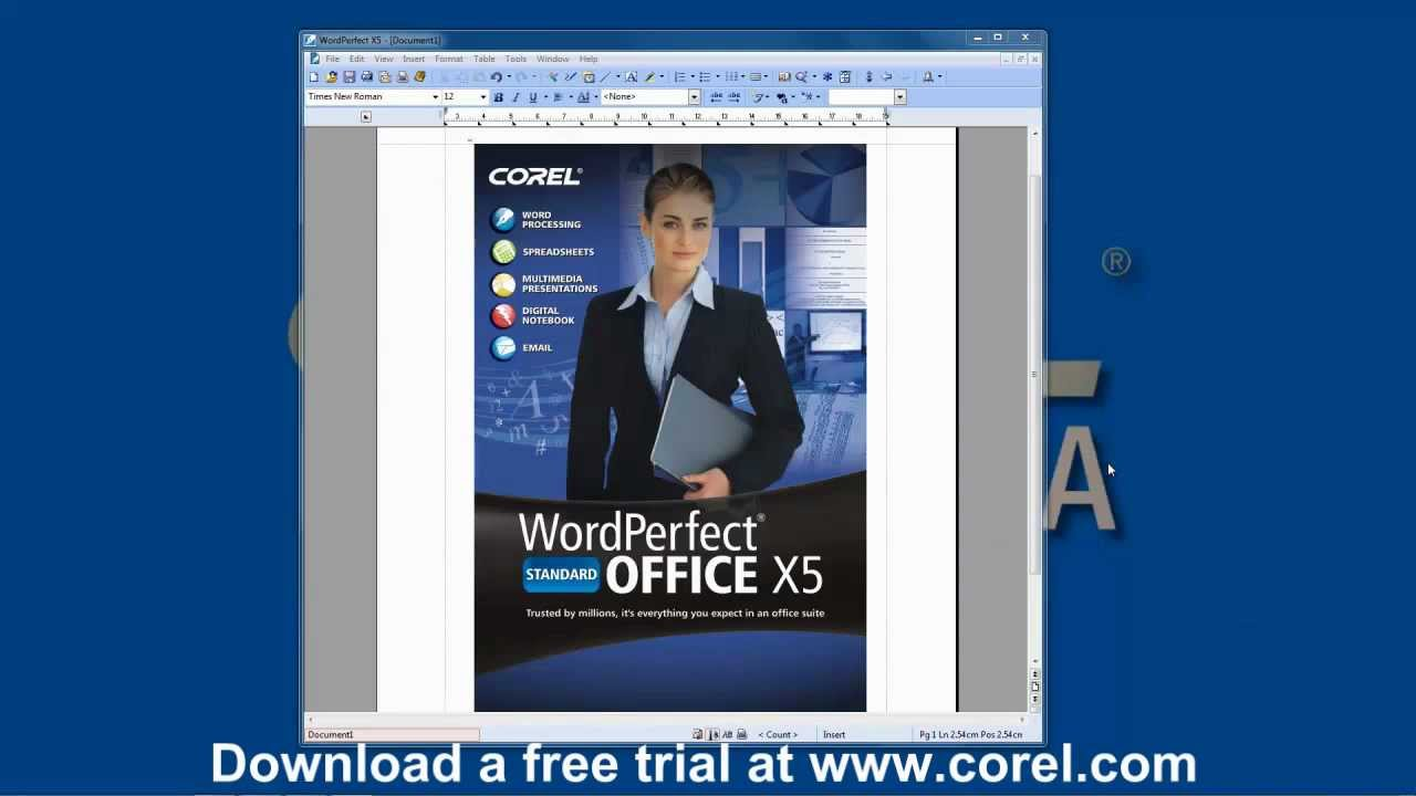 Paid by credit card corel wordperfect office x5 standard